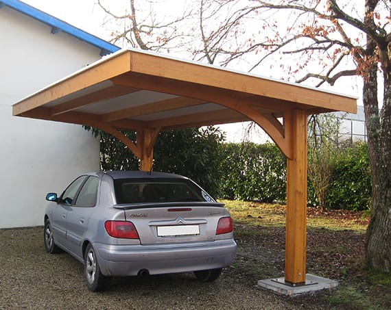 carport selber bauen mit pultdach tipps und tricks freshouse. Black Bedroom Furniture Sets. Home Design Ideas