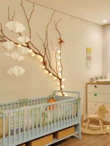 Ein Reizendes Kinder Und Babyzimmer Gestalten Mit Zweigen