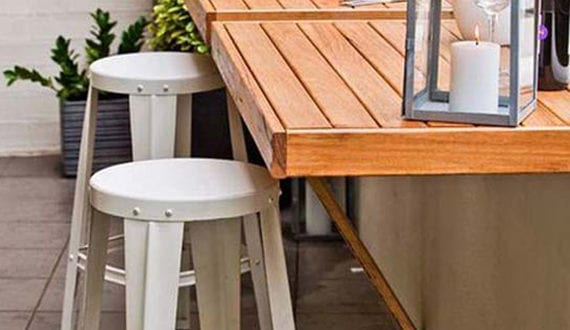 einrichten von einem privaten cafe auf der terrasse coole ideen f r kleine terrassen freshouse. Black Bedroom Furniture Sets. Home Design Ideas