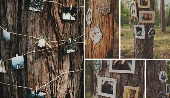 Woodland Dekoration Fur Die Hochzeit Im Grunen Heiraten Hochzeit