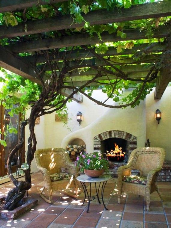 10 kletterpflanzen f r pergola traumhafte sitzpl tze im garten gestalten mit weinlaube freshouse. Black Bedroom Furniture Sets. Home Design Ideas