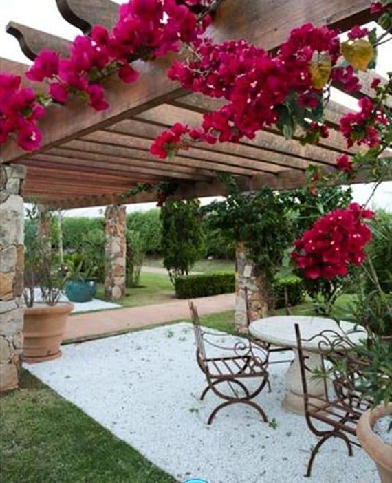 mediterrane gartengestaltung mit kletterpflanzen f r pergola traumhafte sitzpl tze im garten. Black Bedroom Furniture Sets. Home Design Ideas