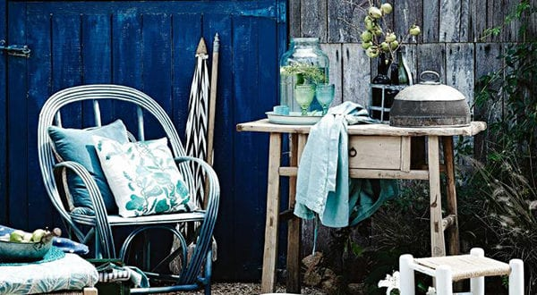 Gartenideen mit frischem Akzent im Blau