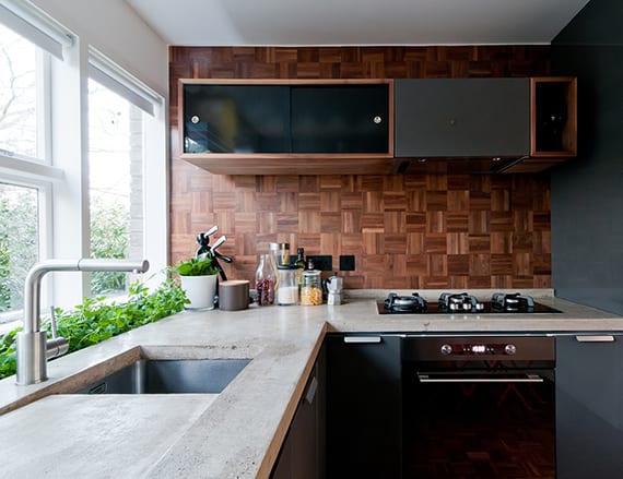 kreative-wandgestaltung-ideen-für kleine küche-mit ...
