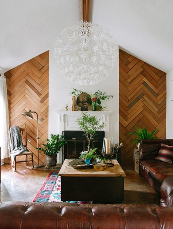kreative-wandgestaltung-ideen-fürs-wohnzimmer-mit ...