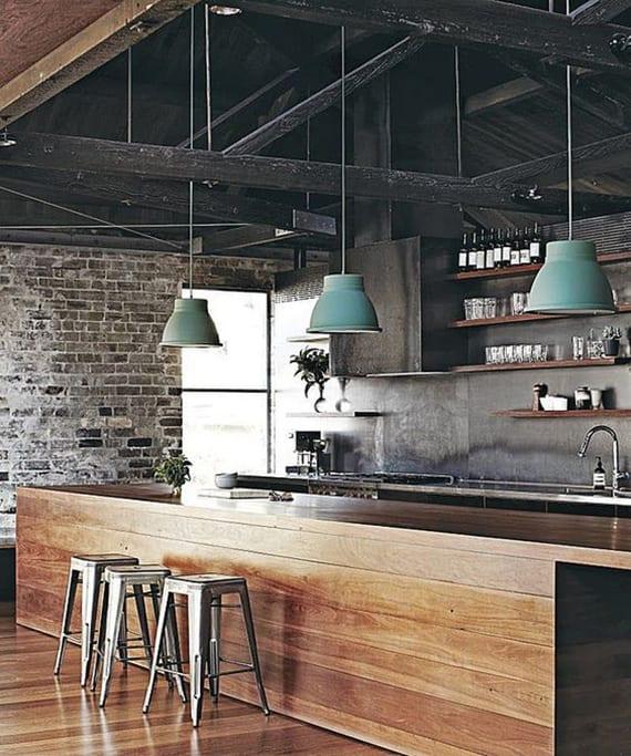 Massivholzmöbel-für-moderne-Küche-und-Wohnungseinrichtung-im ...