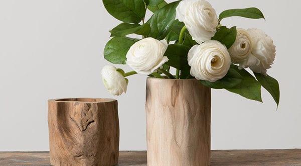 rustikale note dem interieur verleihen mit einer diy vase aus baumstamm oder borke freshouse. Black Bedroom Furniture Sets. Home Design Ideas