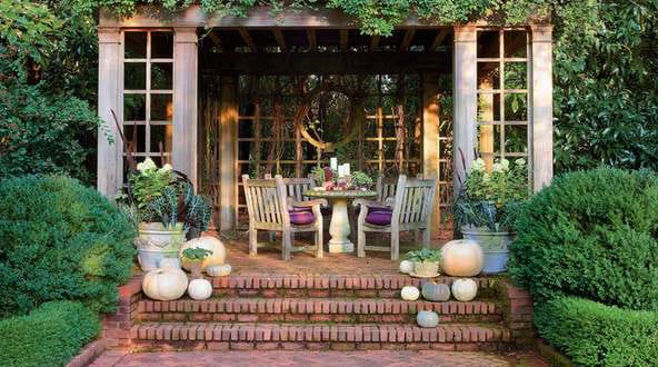 elegante herbst deko ideen f r drau en freshouse. Black Bedroom Furniture Sets. Home Design Ideas