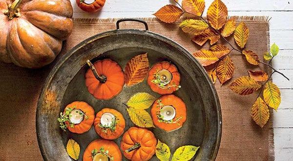 Fabelhafte Herbstdekoration Ideen mit Kürbissen