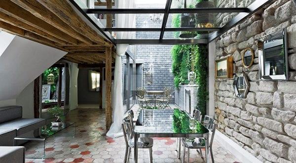 Renovierung einer pariserischen Maisonette-Wohnung aus dem späten 18.Jh.