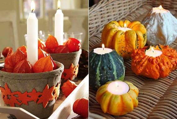 moderne-tischdeko-herbst-mit-Kerzen-selber-basteln - fresHouse