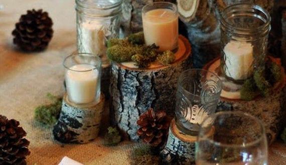 Rustikale Tischdeko Herbst Mit Holz Und Zapfen Freshouse