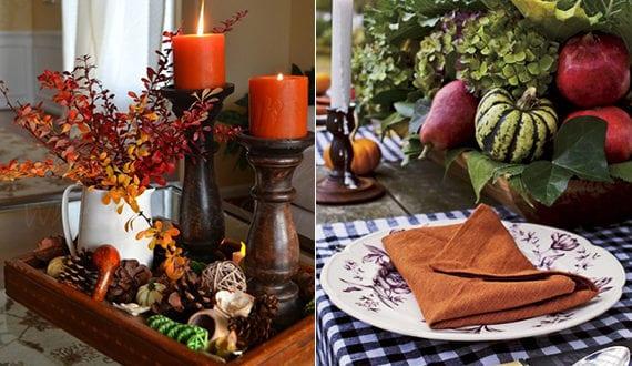 rustikale tischdekore im herbst basteln mit fr chten und herbstelementen freshouse. Black Bedroom Furniture Sets. Home Design Ideas