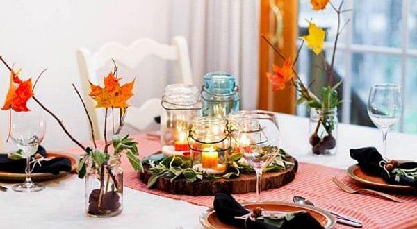 50 tolle herbstliche Tischdeko Ideen für einen festlich gedeckten Tisch