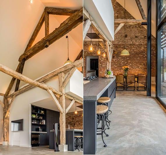 Einfamilienhaus Mit Fertigteilgarage Und Geräteschuppen In: Einfamilienhaus-mit-industrielles-interieur,offener-küche