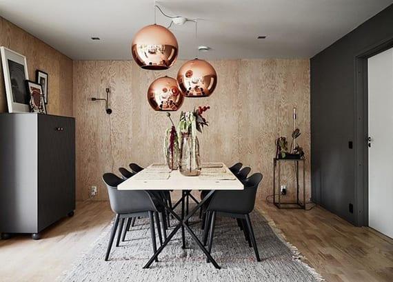 Esszimmer Ideen Für Skandinavische Einrichtung Mit Schwarzen Esszimmermöbeln