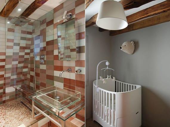 kinderzimmer-und-bad-mit-holzbalkendecke-in-maisonette-wohnung ...