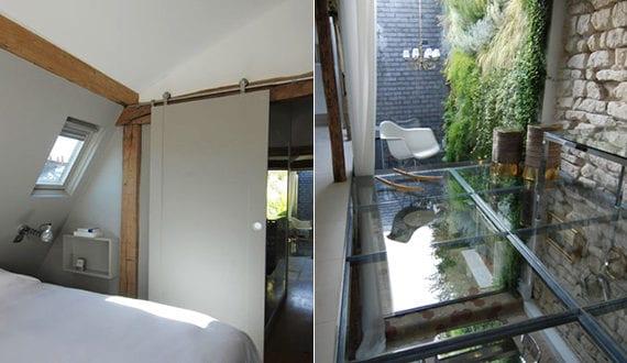 Kleines Schlafzimmer Mit Dachschrägen In Dachwohnung Mit Modernem