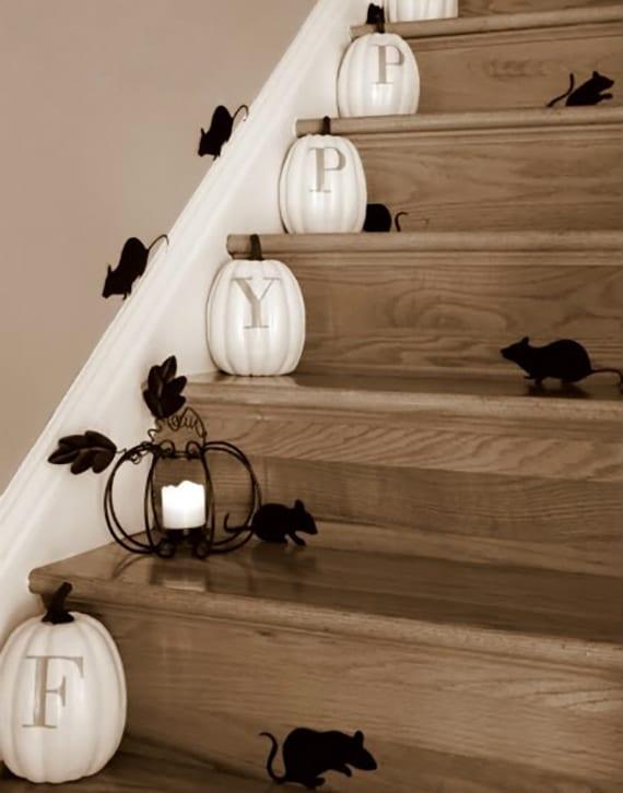 Relativ kreative-bastelideen-halloween-für-diy-treppe-dekoration - fresHouse JR67