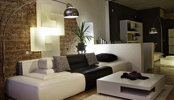 moderne-wohnzimmergestaltung-mit-licht-und-Farbe - fresHouse