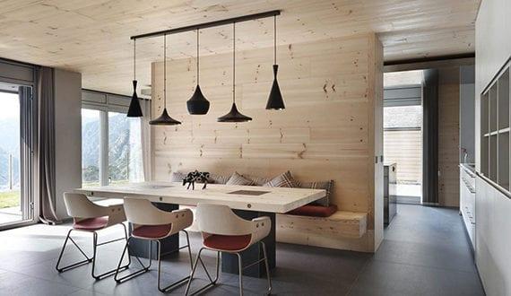 modernes-holz-interieur-design-für-offene-küche-mit ...