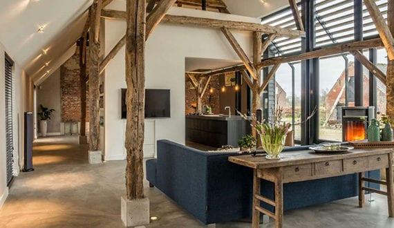 Wohnideen Für Offenes Wohnzimmer Mit Küche, Moderne Glasfassade