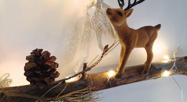 Leuchtende Weihnachtsdeko Ideen für Wand