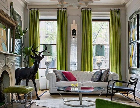 kreative wohnideen f r wohnzimmer mit poppiges interiuer design mit farbakzent in gr ngelb. Black Bedroom Furniture Sets. Home Design Ideas