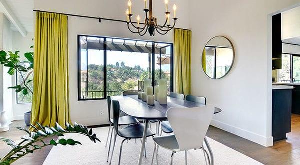 Rotes esszimmer fur intensive einladende atmosphare  Interieur Design Ideen mit der lebendigen Farbe Chartreuse - fresHouse