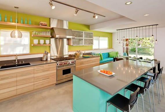 modernes interieur design farben, modernes-interieur-design-ideen-und-frische-farben-küche - freshouse, Design ideen