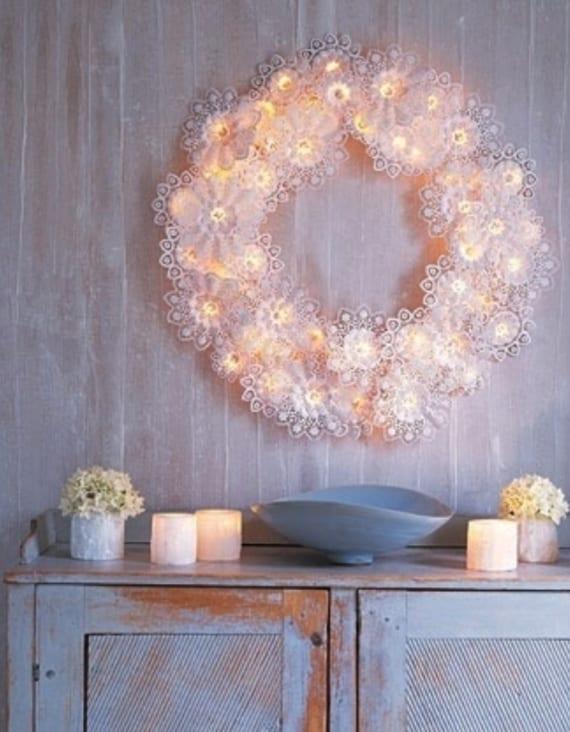 Originelle Weihnachtsdeko Ideen Fur Diy Wanddeko Mit Lichterketten