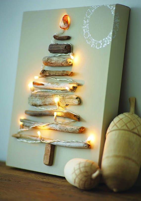 Originelle weihnachtsdeko selber machen f r wand und kamindeko freshouse - Leuchtende weihnachtsdeko ...