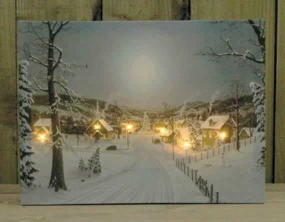 W nde weihnachtlich dekorieren mit diy weihnachts leinwand - Leinwand dekorieren ...