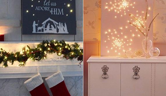 Weihnachts leinwand ideen f r selber basteln und kreativ for Leinwand dekorieren
