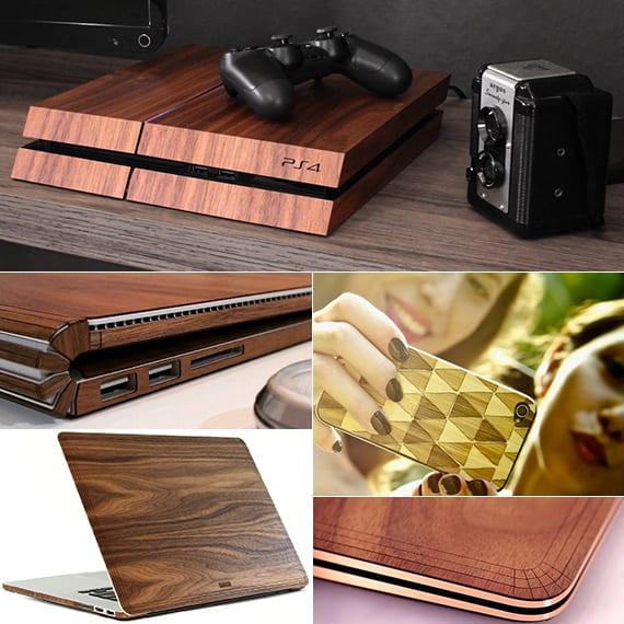 hochwertige holzhüllen für smartphones, laptops, ps4, xbox als coole geschenkideen für weihnachten