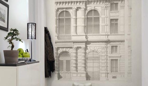 Fantastische Wandgestaltung Flur Mit Architektonischer Fototapete