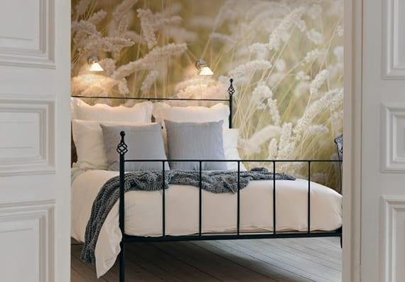 interessante ideen für wandgestaltung im schlafzimmer mit fototapeten