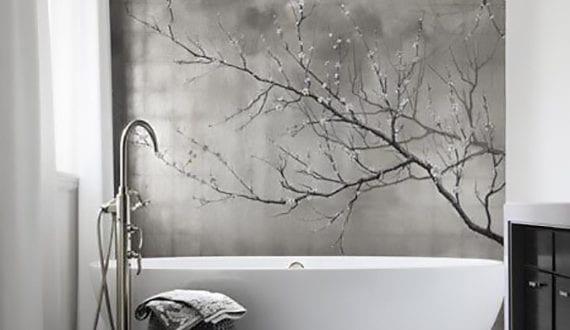 luxus bad interieur design in schwarz und wei mit. Black Bedroom Furniture Sets. Home Design Ideas