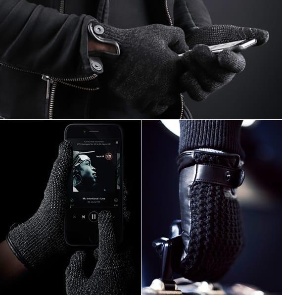 innovative touchscreen-handschuehe aus leder und strickgarn als kreatives weihnachtsgeschenk für männer