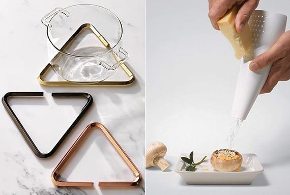 edle küchenaccessoires mit modernem design für festliche tischdeko und als coole geschenkidee