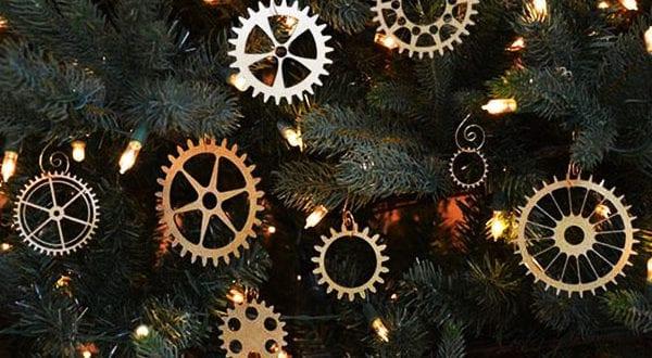 Weihnachtsbasteln vom Schmuck für den Christbaum