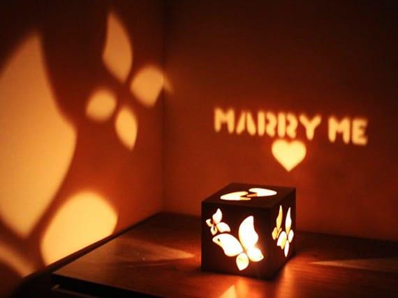 originelle geschenkidee für verliebte mit einem Leelichter-Box