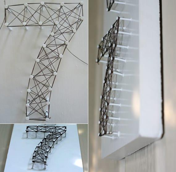 kreatives basteln mit holz und coole wanddeko ideen mit diy hausnummer