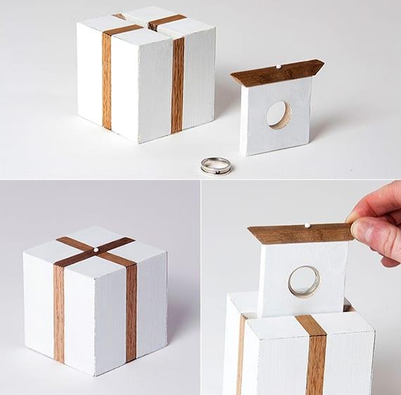 coole verlobungsring box aus holz mit modernem design