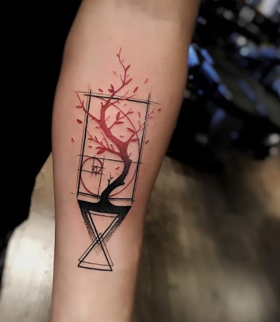 Tattoo Ideen: 60 Lebendige Und Attraktive ''geometric Watercolor Tattoo