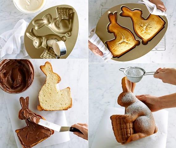 toole oster rezept mit anleitung für einen schoko-osterkuchen in osterhasenform
