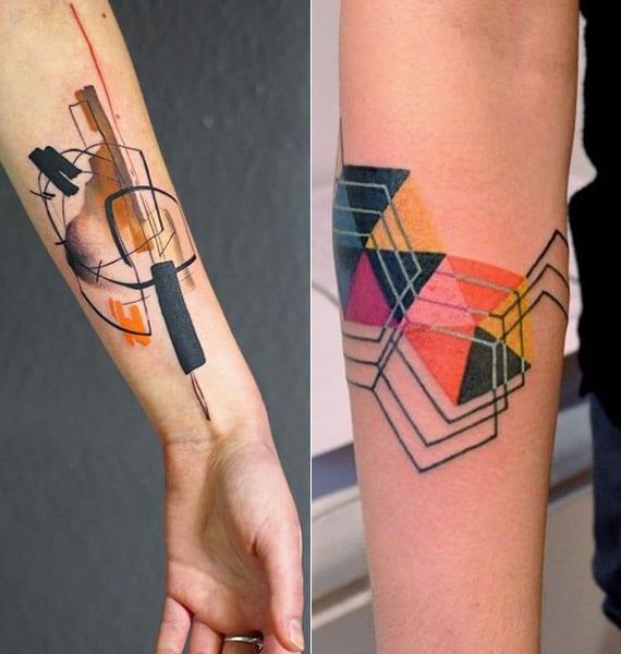 originelle geometrische watercolor tattoos f r arm freshouse. Black Bedroom Furniture Sets. Home Design Ideas