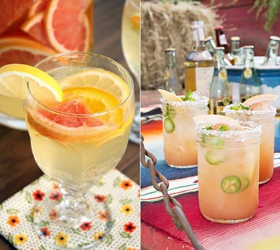 Spritzer Cocktailrezepte mit Sprudelwasser, Grapefruit, Tequila oder Wein