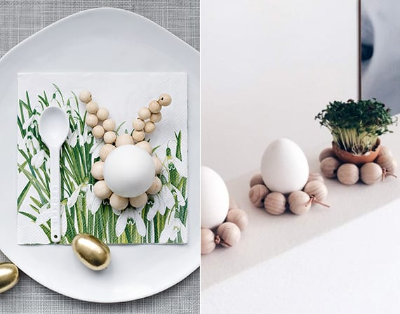 fantastische bastelidee für originelle eierhalter als tisch und platzteller deko zu ostern