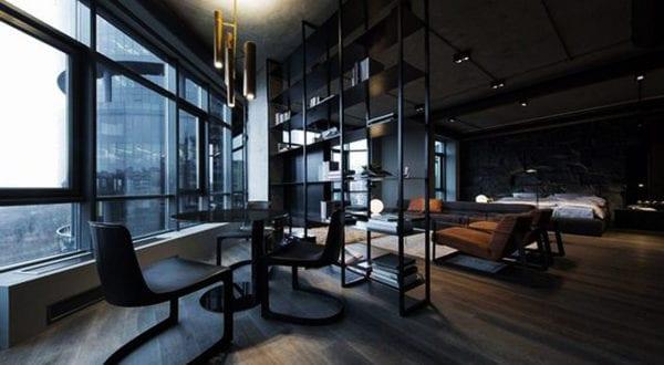 Kluge Raumteiler-Einrichtungsideen für Studio Apartments